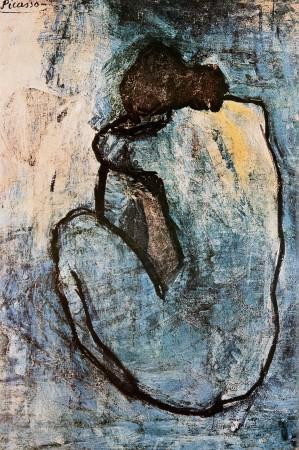 Wandbild Pablo Picasso, Blauer Akt, ca. 1902 1902