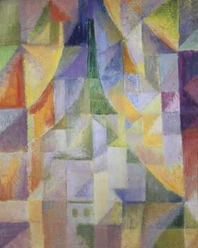Robert Delaunay, Fênetre sur la ville (Geometrische Muster, abstrakte Malerei, Klassische Moderne, Büro, Business, Wohnzimmer, Wunschgröße, bunt)