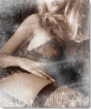 Sia Aryai, West Side Story (Wunschgröße, Malerei, Erotik, Dessous, junge Frau, lasziv, Netzstrümpfe,  Strapsen, Body, People & Eros, moderne Malerei, Schlafzimmer, bunt)