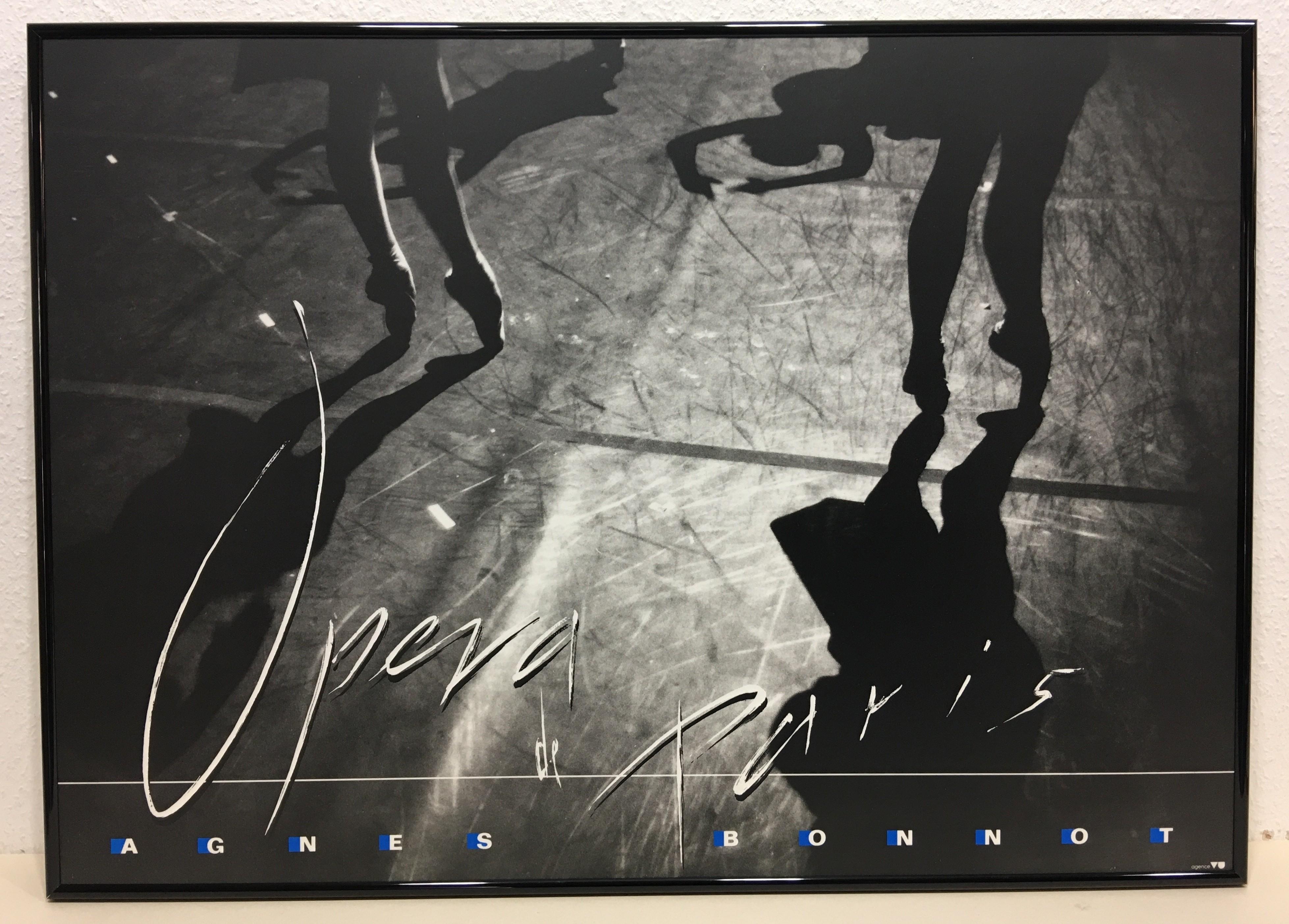 Gerahmtes Bild, Aluminium schwarz glänzend, Folie, Agnes Bonnot, Opera de Paris (Fotografie, Bühne, Ballet, modern, zeitgenössisch, Wohnzimmer, schwarzweiß)