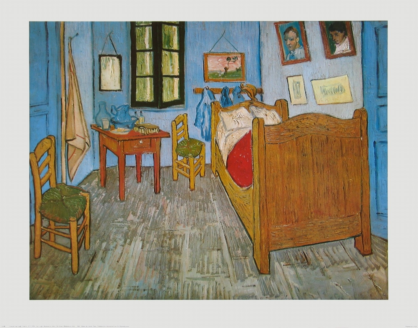 wandbild vincent gogh das schlafzimmer in arles 102187. Black Bedroom Furniture Sets. Home Design Ideas