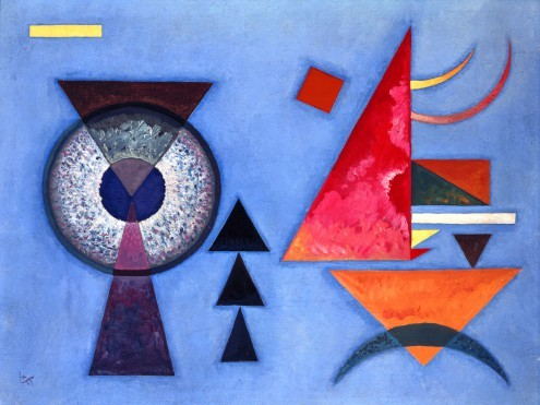 Wassily Kandinsky, Weiches Hart (Klassische Moderne, abstrakte Kunst, Kreis, Auge, Dreieicke, geometrische Formen, Muster, abstrakte Muster,  Wohnzimmer, Büro, Arztpraxis, Malerei,  Wunschgröße, bunt)