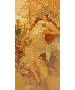 Alphons Maria Mucha,   Jahreszeiten: Herbst. 1896