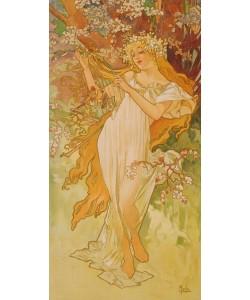 Alphons Maria Mucha,   Jahreszeiten:  Frühling. 1896