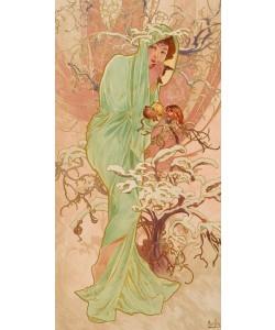 Alphons Maria Mucha,   Jahreszeiten:  Winter . 1896
