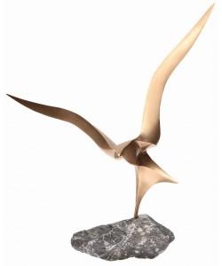 Remo Leghissa, Figur Landung aus Bronze, 62 x 57cm