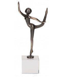 Kerstin Stark, Ballerina Gleichgewicht auf Glassockel, 21 x 8,5 x 5cm