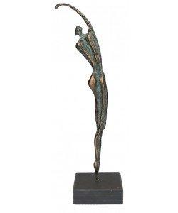 Jörg Schröder, Figur Athlet aus Bronze, 36 x 13cm