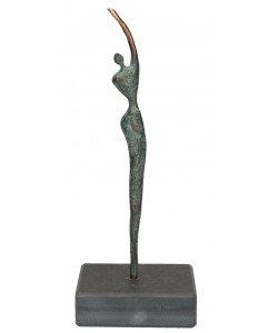 Jörg Schröder, Figur Athletin aus Bronze, 19 x 7cm