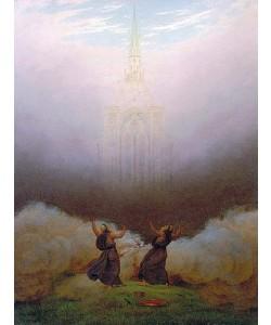 Caspar David Friedrich, Die Vision der christlichen Kirche. Um 1812
