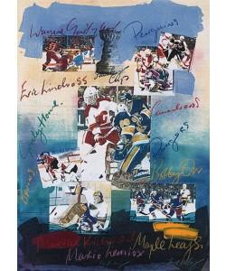 Hussey James Ice Hockey (Klein) (Monotypie, handsigniert)
