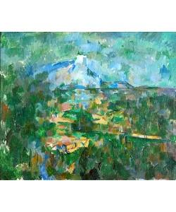 Paul Cézanne, Der Mont Sainte-Victoire von Les Lauves aus gesehen. 1904/06