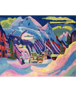 Ernst Ludwig Kirchner, Davos im Winter. 1923