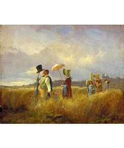 Carl Spitzweg, Der Sonntagsspaziergang. 1841