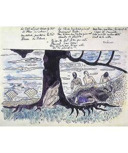 Paul Gauguin, Illustration zu einem Gedicht von Verlaine: Le Ciel est pardessus le toit.