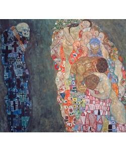 Gustav Klimt, Tod und Leben. Vollendet 1916.
