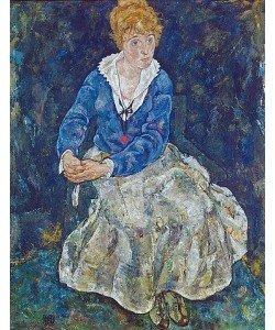 Egon Schiele, Bildnis der Frau des Künstlers, sitzend. 1918