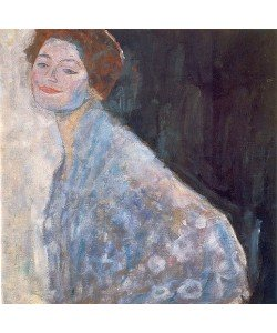 Gustav Klimt, Damenbildnis in weiß. 1917/18