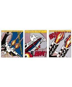 Lichtenstein Roy As I opened Fire (Triptychon) (Offset Lithografie)