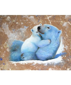 Jean-Marc Chamard, Polar bear with cub 02