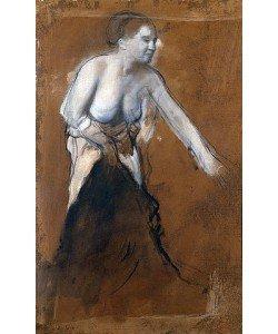 Edgar Degas, Junge Frau, halb entkleidet (Junge Frau bei der Toilette). 1866/68