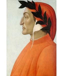 Sandro Botticelli, Bildnis von Dante Alighieri.