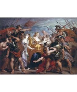 Peter Paul (Werkstatt) Rubens, Die Versöhnung zwischen den Sabinern und den Römern.