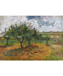 Paul Gauguin, Felder und Bäume. 1879