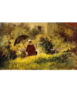 Carl Spitzweg, Der Maler im Garten.