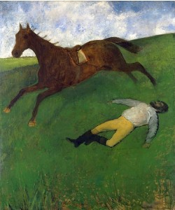 Edgar Degas, Der gestürzte Jockey (Jockey blessé). 1866, um 1896/98 übermalt