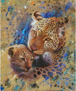 Jean-Marc Chamard, Panther with cub 02