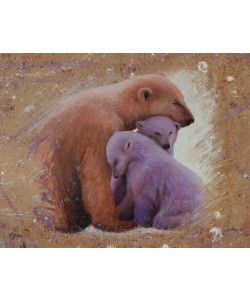 Jean-Marc Chamard, Polar bear with two cubs