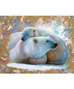 Jean-Marc Chamard, Polar Bear with cub 03