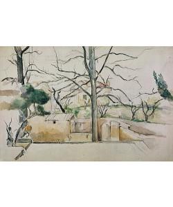 Paul Cézanne, Winter in Jas de Bouffan.
