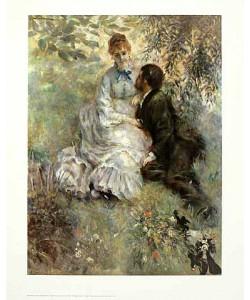 Pierre-Auguste Renoir, Idyll (Liebende 1875) (Offset)