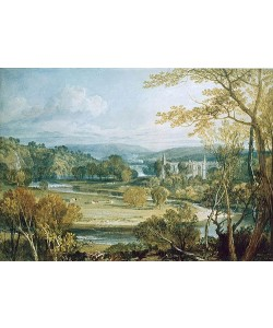 Joseph Mallord William Turner, Blick zur Bolton Abbey, Yorkshire. 1809