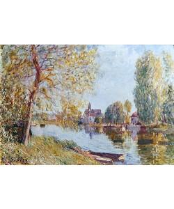 Alfred Sisley, Frühling in Moret-sur-Loing.
