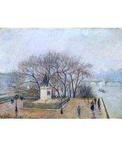 Camille Pissarro, Denkmal Heinrichs IV. und Pont des Arts in Paris. 1901.