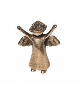 Kerstin Stark, Bronzefigur Engelchen, stehend, 6cm
