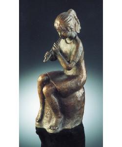 Fritz Pißarreck, Mädchen mit Flöte, 26cm