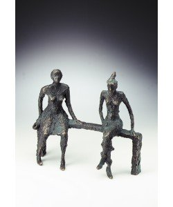 Luise Kött-Gärtner, Zwei Frauen, 24 x 28cm