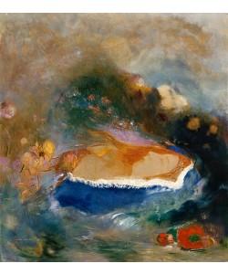 Odilon Redon, Das blaue Cape (oder: Ophelia).