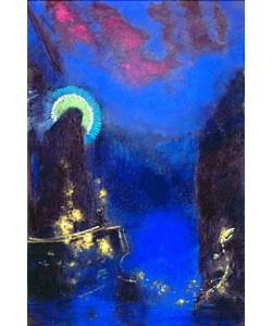 Odilon Redon, Die hl. Jungfrau mit dem Heiligenschein.