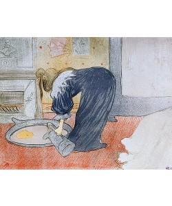 Henri de Toulouse-Lautrec, Frau an der Wasch-Schüssel.