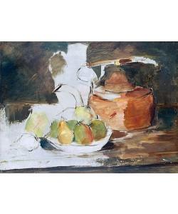 Henri de Toulouse-Lautrec, Stilleben mit Obst und Wasserkessel.