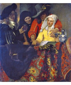 Jan Vermeer van Delft, Bei der Kupplerin. 1656