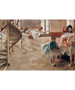 Edgar Degas, Die Tanzprobe. Um 1874
