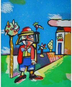 Alt Otmar Grosswildjaeger (1992) (Radierung, handsigniert)