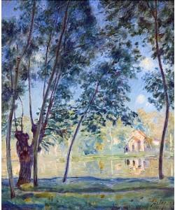 Alfred Sisley, Flusslandschaft. 1890