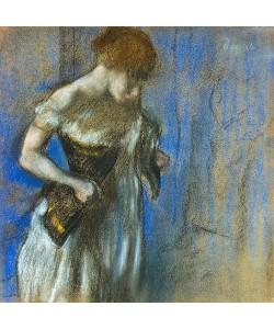 Edgar Degas, Frau beim Schnüren ihres Korsetts.